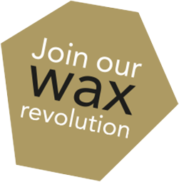 Join our wax revolution logo gold